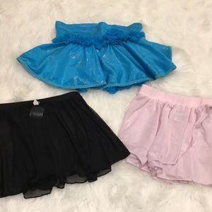 Bundle 3 Dance Skirts! Size 4/5!💕💕